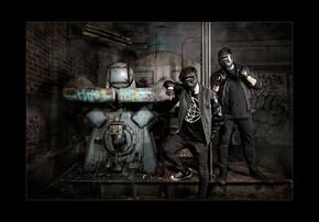 Cyberpunkers Fabric